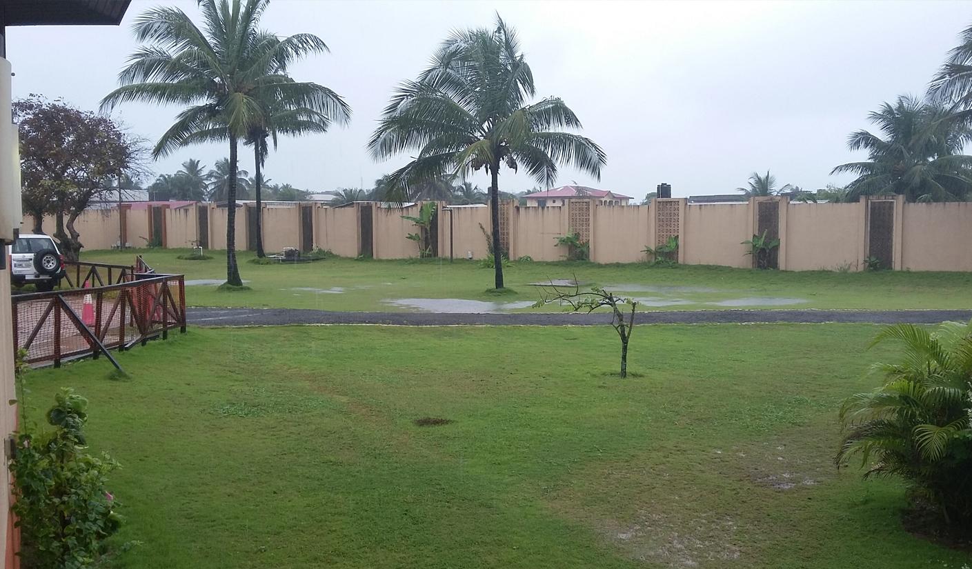Pluie à Monrovia